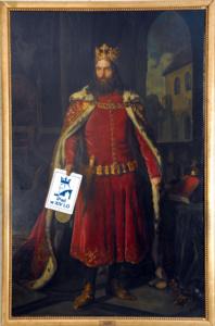 MP 3761; Löffler, Leopold (1827-1898) (malarz); Portret Kazimierza Wielkiego; 1864; olej; płótno; 251 x 157